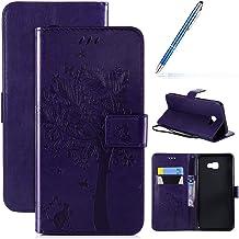 Robinsoni Hoesje Compatibel met Galaxy J4 Core Case PU Lederen Case Portemonnee Case Glossy Bling Cover Glitter Notebook M...