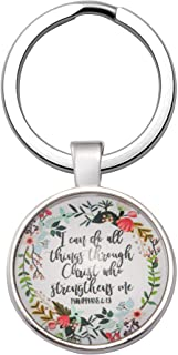 Christian Keychain Religious Bible Verse Gift Jewelry for Women Girls