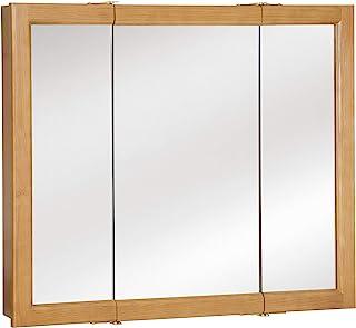 Design House 530576 Richland Mirrored Medicine Cabinet, Nutmeg Oak, 36