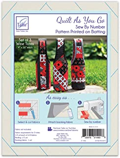 June Tailor JT-1490 Quilt As/Go Wine Totes 3pc, None