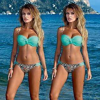SIYIHENGJUN Women Triangle Bikini Set Swimsuit Beachwear Padded Bra Bathing Suit