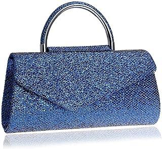 Shoulder Bag Women's Handbag,Wild Casual One Shoulder Large Capacity Evening Bag for Wedding Party Cocktail Party Handbag Clutch (Color : Blue, Size : 26x13x5cm(10x5x2inch))