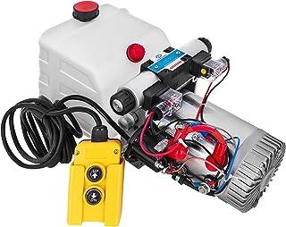 Mophorn Hydraulic Pump for Dump Trcuk Double Acting Single Solenoid Hydraulic Power Pack 12V DC Hydraulic Pump Dump Trailer with 4.5L Plastic Reservoir Car Lift Hydraulic Power Unit