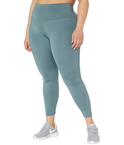 Nike Plus Size the Yoga 7/8 Tights (Hasta/Heather/Dark Teal Green) Women