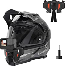 TELESIN Upgraded Motorcycle Helmet Chin Mount for GoPro Hero 9 8 7 6 5 Insta 360 One R One X DJI Osmo Action Pocket Cellph...