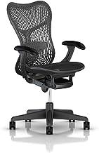 Herman Miller Mirra 2 Task Chair: Standard Tilt - Fixed Seat Depth - Non-Adj Back Support - TriFlex Back - Fixed Arms - Graphite Base & Frame (Renewed)
