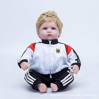 ZHANGZ 45cm German Football Doll Rebirth Doll Simulation Baby Doll Educational Toy for Boys