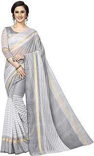 VintFlea Indian Womens Bollywood Fashion Heavy Paper Silk Designer Plain Saree with Jacquard Work Blouse