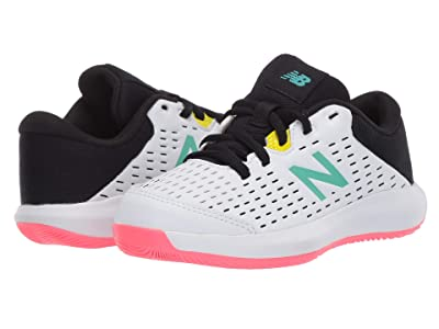New Balance Kids KC696v4 Tennis (Little Kid/Big Kid) (White/Black) Kids Shoes