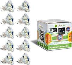GreenSun LED Lighting 10X MR11 GU4 3W 12 * 2835SMD gloeilamp LED spot gloeilamp spot lamp AC/DC 12V, 180LM lampen spotligh...