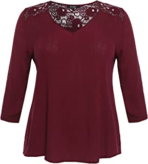 Awesome21 Women's 3/4 Sleeve Lace Top