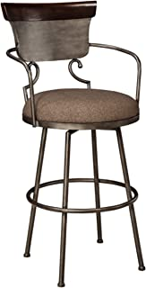 Ashley Furniture Signature Design - Moriann Swivel Barstool - Pub Height - Vintage Casual - Two-tone