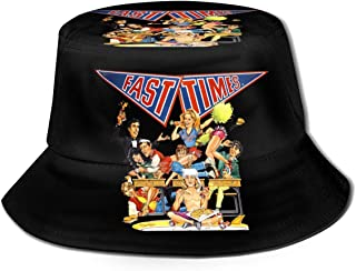 YuYfashions Cómodo Verano al Aire Libre Sombrero de Playa Gorra de Cubo Fast Times en Ridgemont High Cartoon Fisherman Hat para Hombres y Mujeres