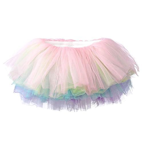 86515da19b62 My Lello Little Girls 10-Layer Short Ballet Tulle Tutu Skirt (4 mo.