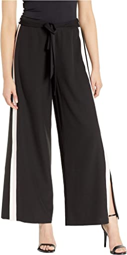 Sport Stripe Side Seam Detail Pants with Belt