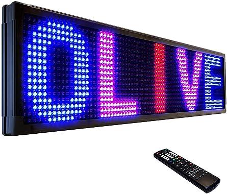 """OLIVE LED Sign 3Color RBP, P15, 12""""x41"""""""