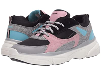 Geox Kids Lunare 1 (Big Kid) (Grey/Pink) Girl
