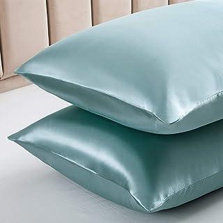 Vonty Fundas de almohada de satén para cabello y piel, tamaño estándar, fundas de almohada de satén sedoso, 50 x 66 cm, fu...