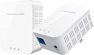 Medialink Gigabit Powerline Adapter Kit (2 Units) - AV1000 Ethernet Homeplug with Gigabit (1000 Mbps) Wired Speed (Part# MPLA-1000X2)