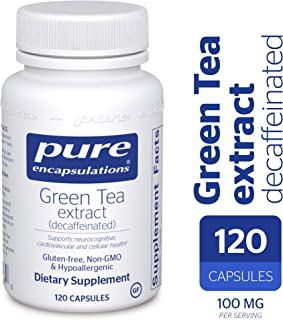 Pure Encapsulations - Green Tea Extract - Decaffeinated - Hypoallergenic Antioxidant Support for All Cells in The Body* - 120 Capsules