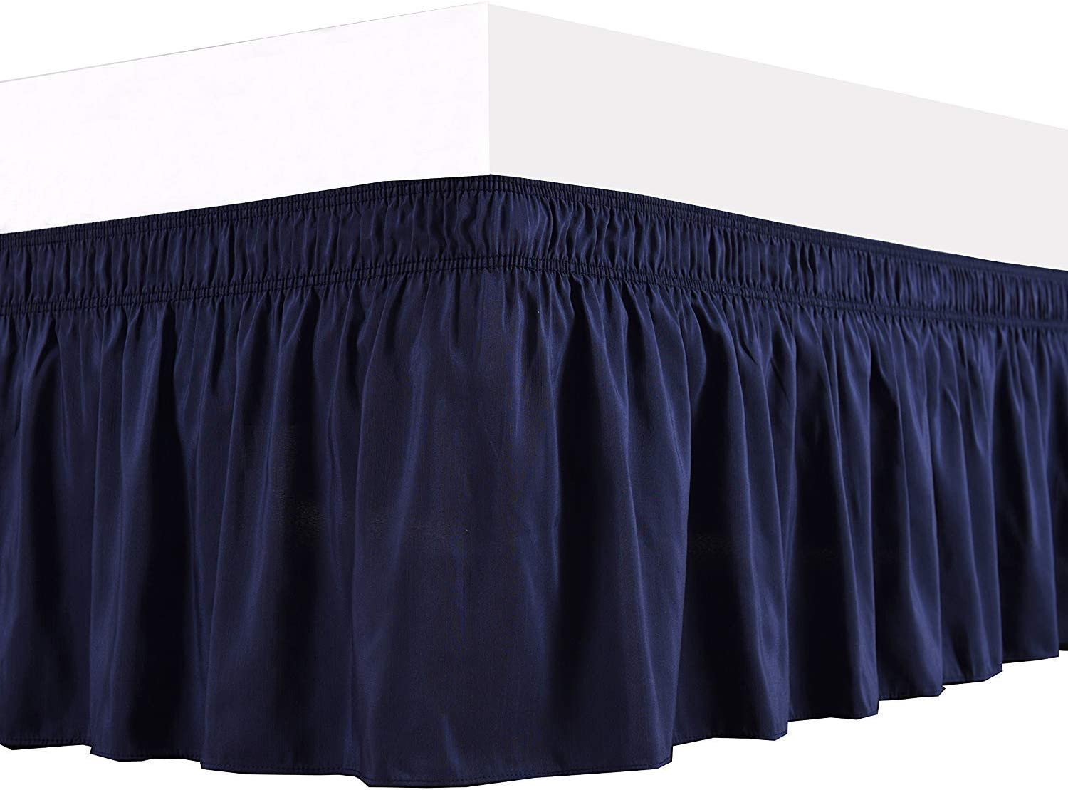 1 Wrap Around Bed Skirt Elastic Ruffles Wrinkle an Safety and trust Max 40% OFF Dust Fit Easy