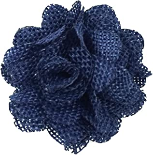 navy blue burlap flowers