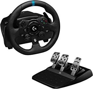 Logitech G923 Racing Wheel and Pedals for Xbox One and PC featuring TRUEFORCE up to 1000 Hz Force Feedback, Responsive Ped...
