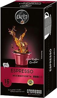 Cafet für Cremesso, Kaffekapseln Espresso 16 Stück