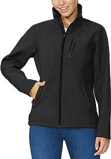 BALEAF Women's Softshell Outdoor Jacket Waterproof Windproof Fleece Lined Winter Coat