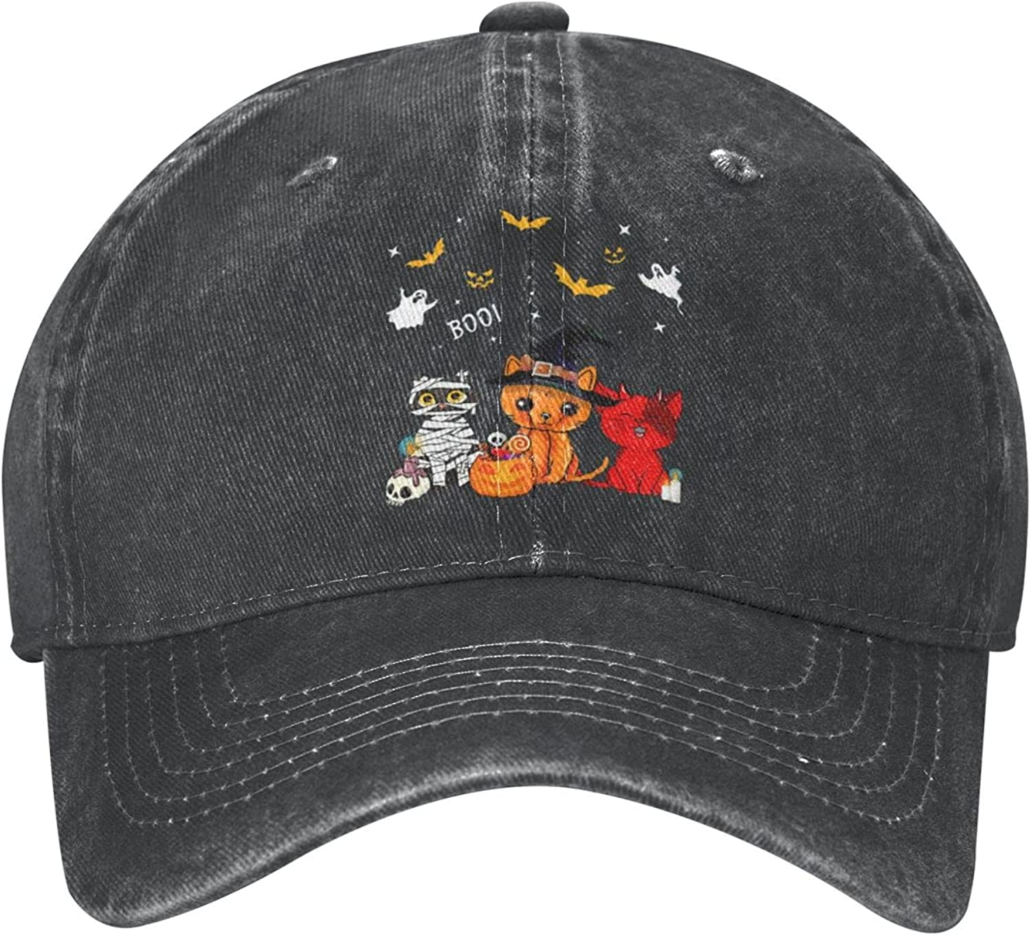 Halloween Washed Denim Cotton Baseball Adjustable Cap Sales results No. 1 Unisex Direct stock discount F