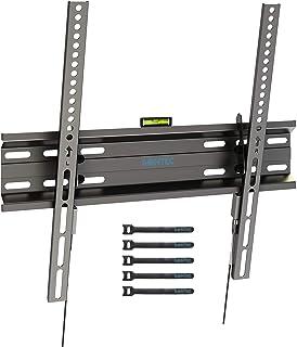 1homefurnit テレビ壁掛け金具 壁掛けテレビ金具 23-55インチLCD LEDテレビ対応 耐荷重45kg VESA400x400mm (ブラック) スプリングロックシステム ケーブルタイ5本付き