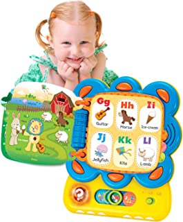 KiddoLab Chapa The Lion, My First Tablet Interactive Touch and Learn Activity Sound Book. Alphabet and Word Learning Toy for Infants.Toddler Educational Toy with Quizzes and Musical Melodies.