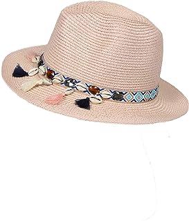a6b4a96098ca4a Zwillingsherz Sommerhut für Damen mit Muscheln - Elegante Kappe Hut für  Frauen Mädchen - Hochwertiger Sonnenhut