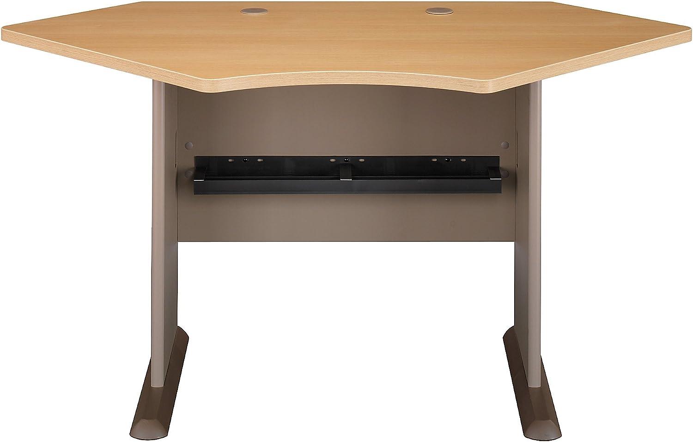 Bush Business Furniture Series A Collection 42W Corner Desk in Light Oak