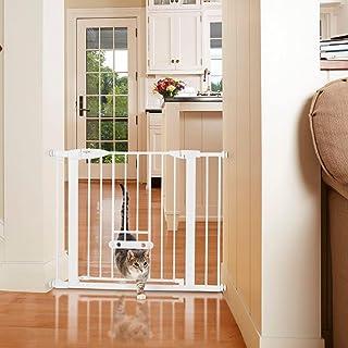 "MYPET North States 37.5"" Wide Wide Walk Thru EasyPass Pet Gate: Extra-Wide 22"" Door for securing hallways or doorways. Pre..."