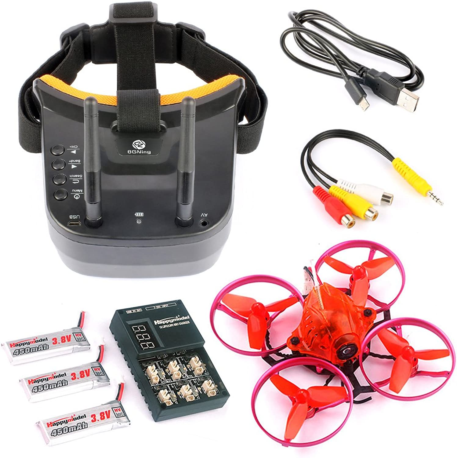 BGNing Snapper7 Brushless Micro 75mm FPV Racer Drone RC Quadcopter RTF 700TVL Camera VTX and Double Antenna