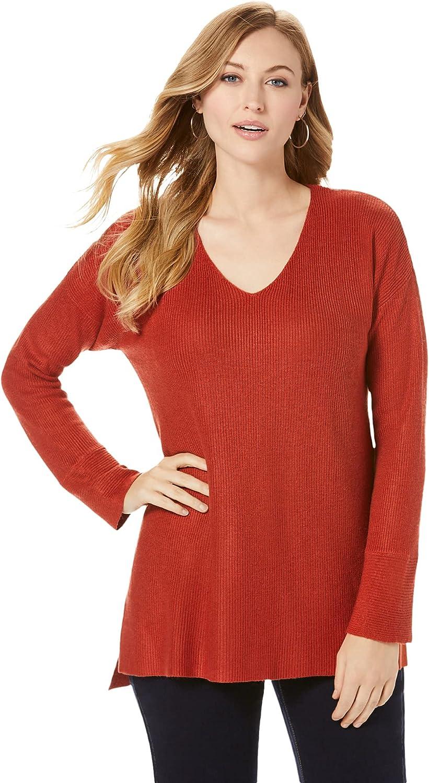 Jessica London Women's Plus Size V-Neck Pullover Sweater