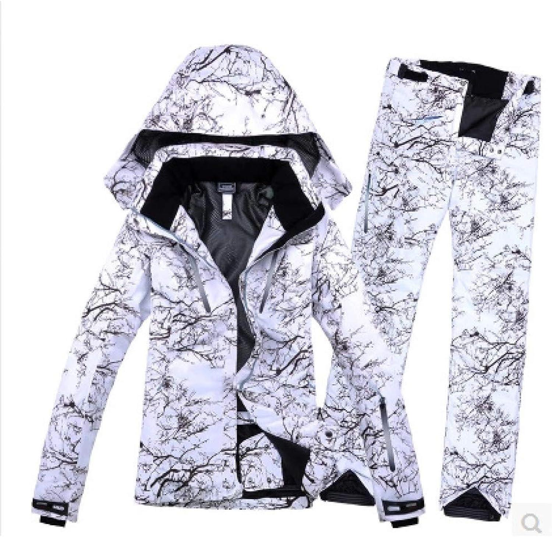 KUNHAN Skibekleidung für Herren MnnlicheSkianzügeJacke + Hose Wasserdicht Atmungsaktiv ThermoSnowboard Winddicht
