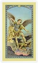 WJ Hirten E24-330 Saint Michael The Archangel, Clear Holy Cards
