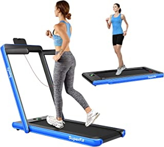 Folding Walking Pad Treadmill, 2-In-1 Walking & Running Exercise Treadmill,2.25HP Motor, w/Bluetooth Speaker, APP Control,...