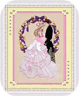クロスステッチキット|3D幸せな結婚式の恋人シルクリボン刺繍セット手芸クロスステッチキットDIY手作り針仕事壁アート装飾ギフトアイデア-リボンキットのみ-