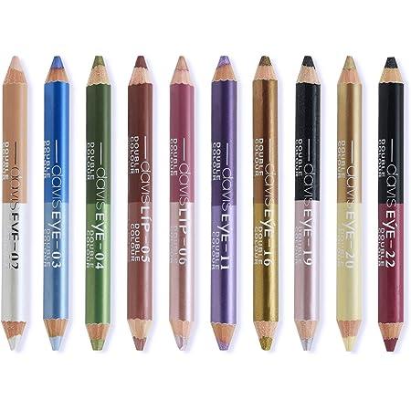 Ownest 20 Colors Eyeshadow Pencil Set,Double Head Matte Shimmer Eye Shadow Cream,Waterproof Cosmetic Eyeshadow Makeup Set-10pcs