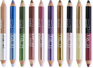 Ownest 20 Colors Eyeshadow Pencil,Double Head Matte Shimmer Eye Shadow Cream,Waterproof Cosmetic Makeup Set-10pcs