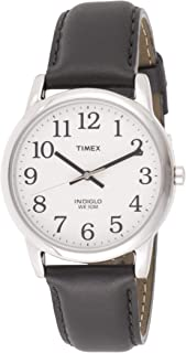 Timex Mens Quartz Watch, Analog Display And Leather Strap - T20501