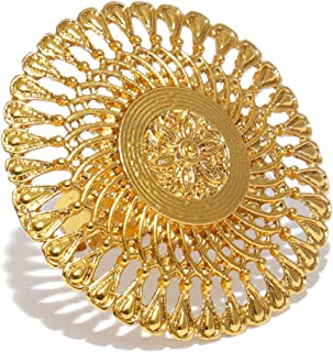 ZAVERI PEARLS Splendid Gold Plated Metal Look Finely Detailed Finger Ring For Women-ZPFK9377