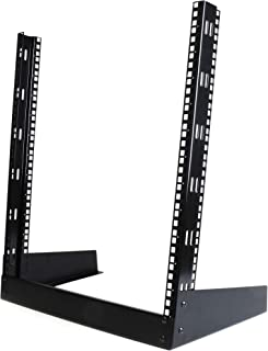 "StarTech.com 12U Open Frame Network Rack - 19"" 2 Post Free Standing Desktop Rack for Computer, AV, Media, IT, Data & Server Room Equipment (RK12OD),Black,Lightweight"