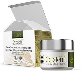 Crema Hidratante Facial Mujer – Crema Ecológica Regeneradora Con Aceite de Oliva + Vitamina E + Aceite de Almendras - Piel...