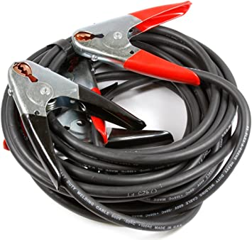 Forney 52866 Battery Jumper Cables, Heavy Duty, Number 4, 16-Feet,Black And Red: image