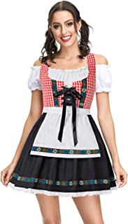 Kate Kasin Women`s German Dirndl Dress Costumes for Traditional Bavarian Oktoberfest Carnival Halloween