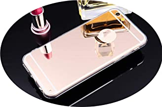 Luxury Mirror Soft TPU Back Cover Case for iPhone 4 4S 5 5S SE 6 6S 6Plus 6SPlus 7 7Plus 8 Plus X Xs Max Xr Case Capa Shell,Gold,for iPhone 4 4S